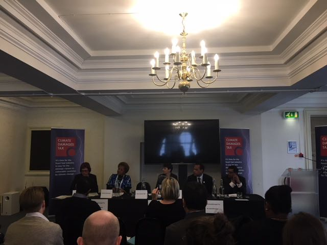 Launch of Climate Damages Tax Campaign