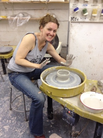 Pottery For Beginners Liana Is At The Wheel Abrams Craft