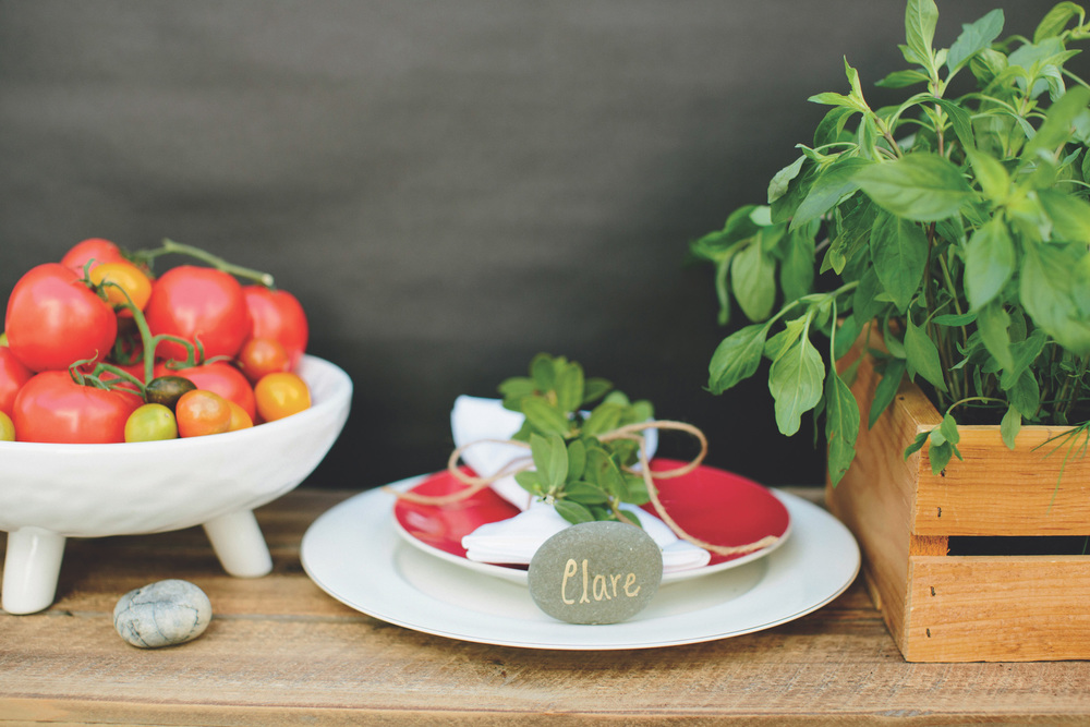 Garden to Table Place Settings from p. 138 of Jacinda Boneau and Jaime Morrison Curtis's Pretty Prudent Home