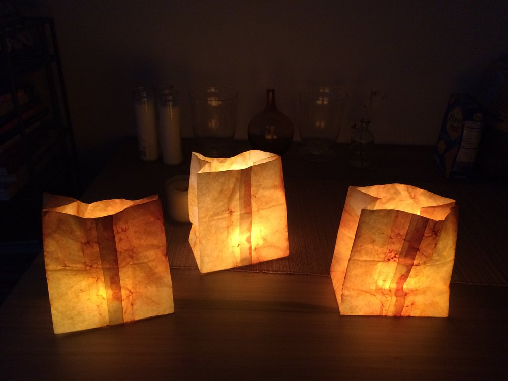 MAV's natural dye luminaries