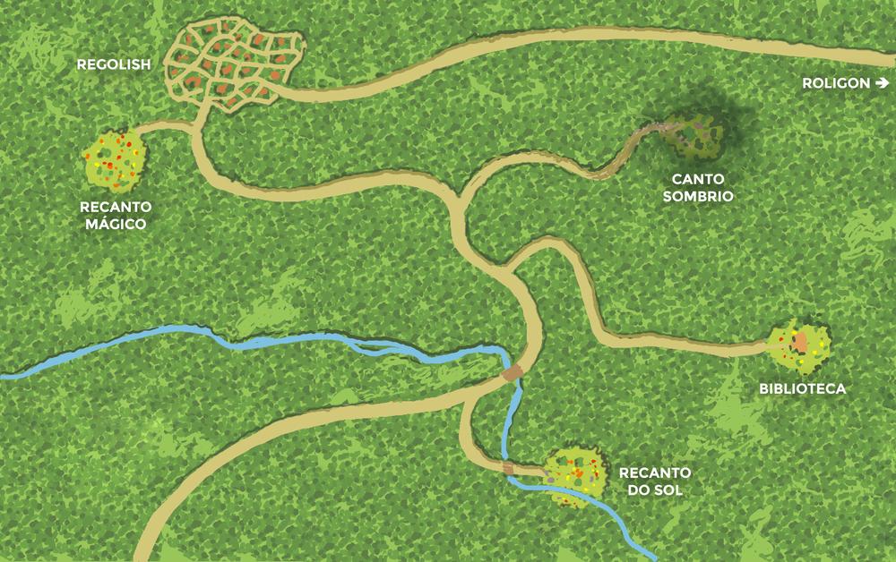 Mapa da Floresta dos Rolls