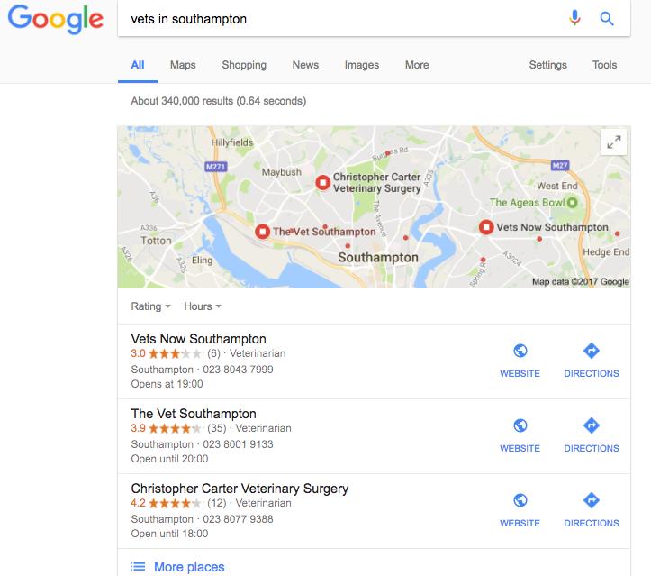 google places pack