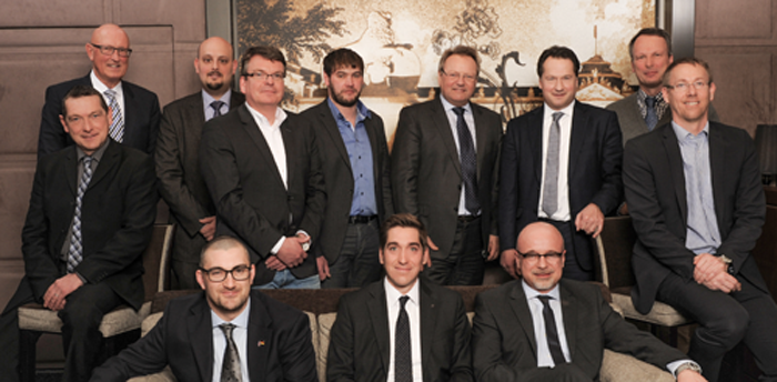 First row from left to right: Duncan Wood, Daniel Lichtenstein, Dr. Christoph Schumacher Second row from left to right:  Günther Rehm, Wolfgang Kochan, Dr. Kristian Arntz, Ingo Kuhlmann, Marco Schülken, Günther Hofmann, Rainer Lotz, Stefan Ritt, Kai Witter