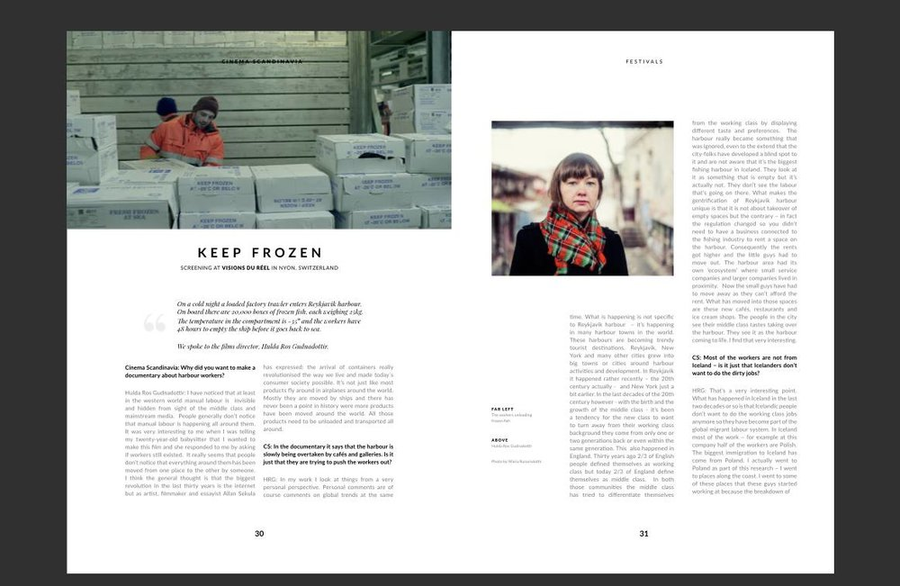 Screenshot from an image of the printed version of Cinema Scandinavia May 2016