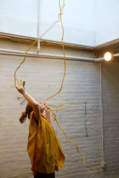 Audience performance.  Keep Frozen part one  @ De-Construkt, NY. Photo: Hulda Rós Gudnadóttir