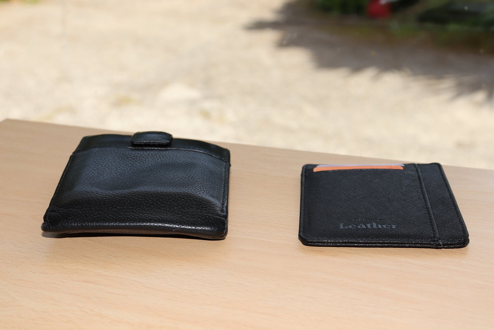 My pared down traditonal wallet v my new minimalist wallet