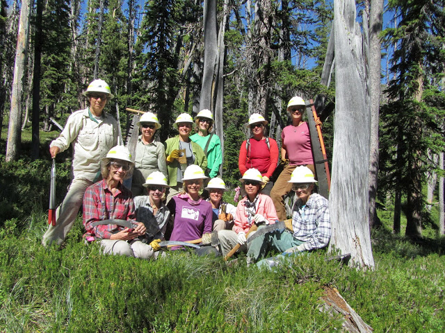 One Horse_Sierra Club group picture_on trail_BNF_Kaufman.jpg
