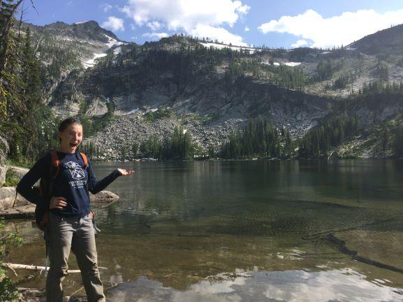 Talitha enjoying South Fork of Big Creek Lake (1).JPG