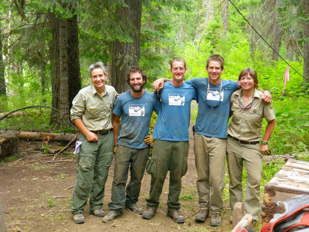 Drew with his SBFC crew and Forest Service Partners