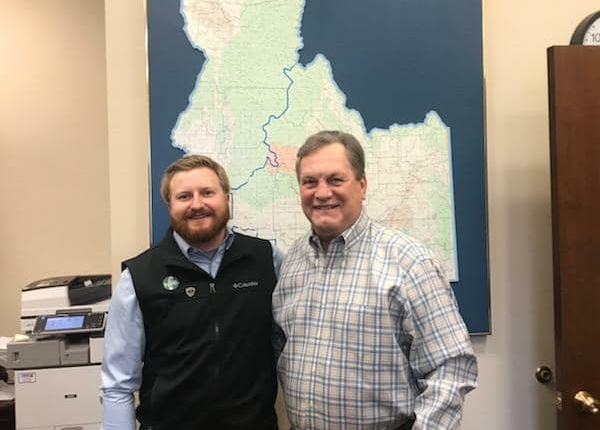 Tyler Lee with Congressman Mike Simpson