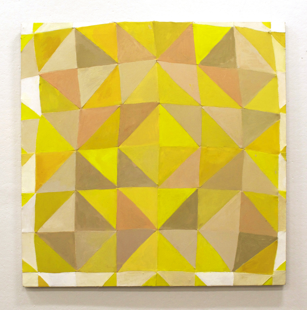 "YELLOW   2015  oil on pieced linen and canvas on stretcher  36"" x 36""   sold"