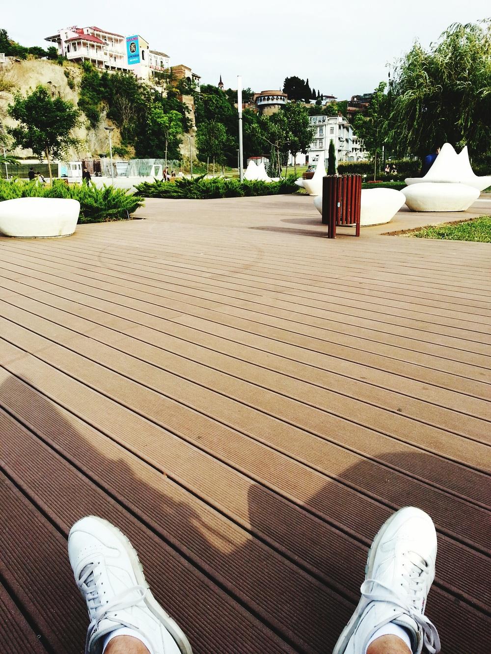 Relaxing in Rike Park...