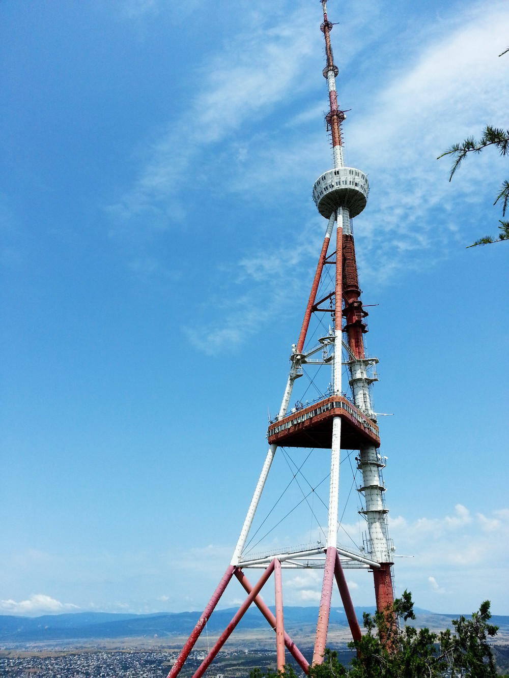 The Tbilisi TV Tower.  Built in 1972, height 274,5 m