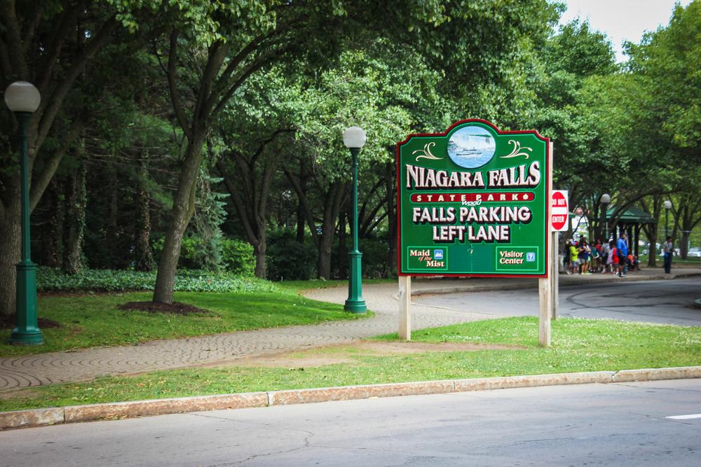 Niagara Falls State Park.  Free entry.