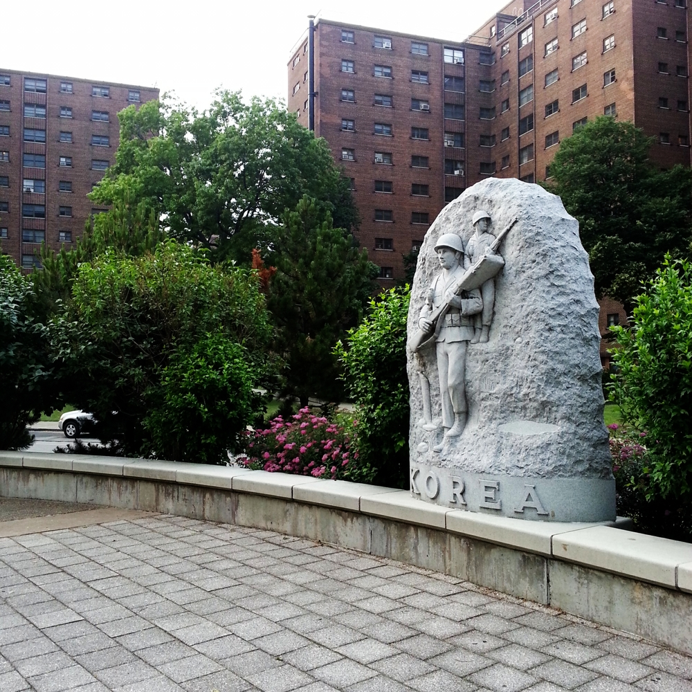 Korean War memorial in Buffalo, NY.