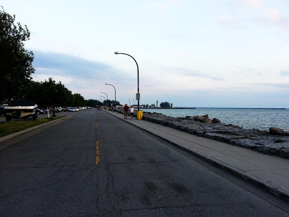 Buffalo, Erie St.  Waterfront promenade