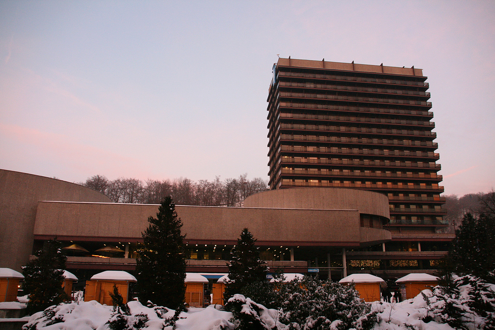 Hotel Thermal.  It hosts the annual Karlovy Vary Film Festival.