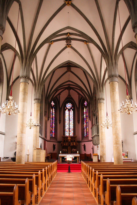 Vaduz.  St. Florin Cathedral, interior.