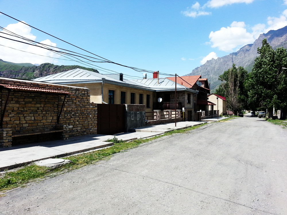 Kazbegi . The town is really small but tidy.