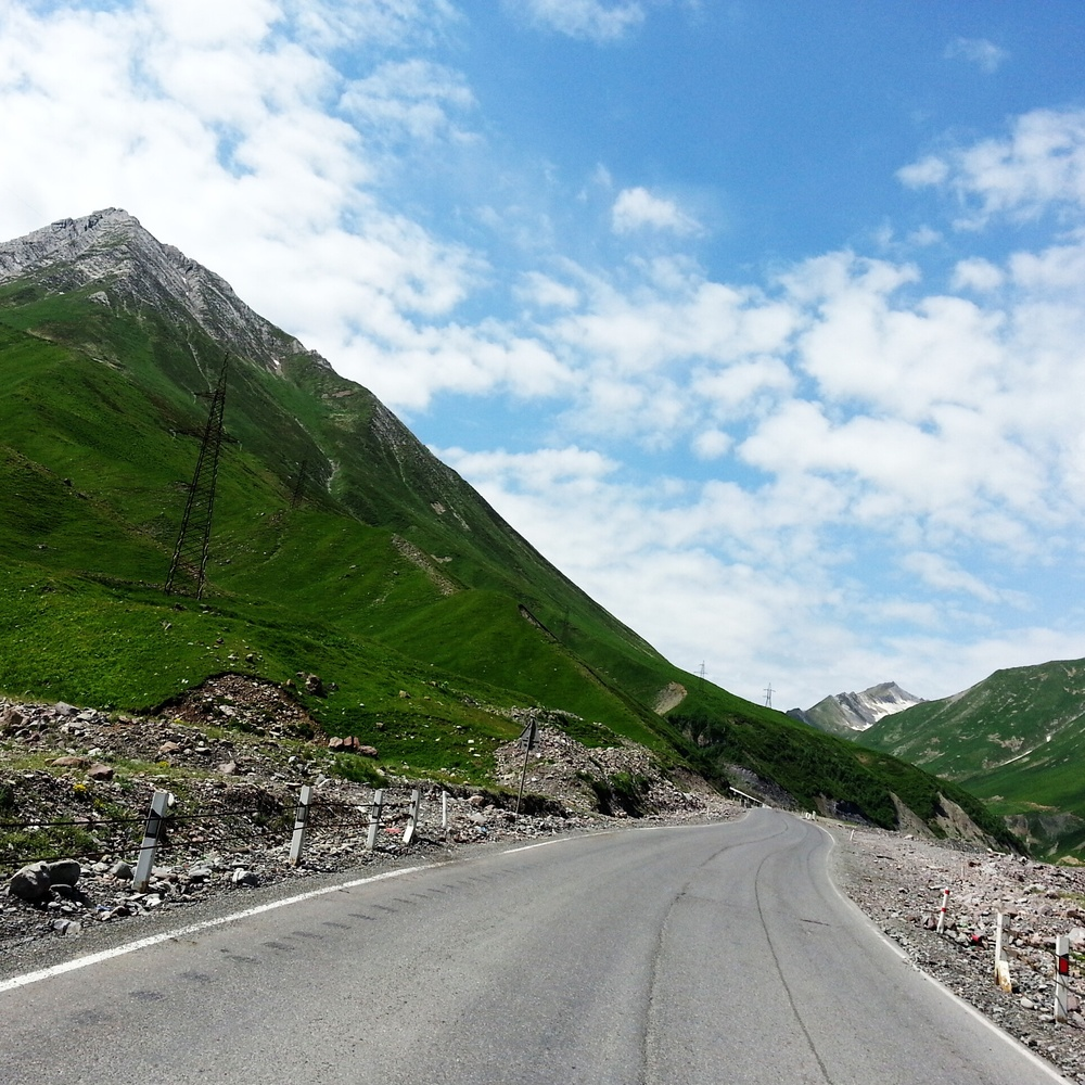 Kazbegi . On the road again...