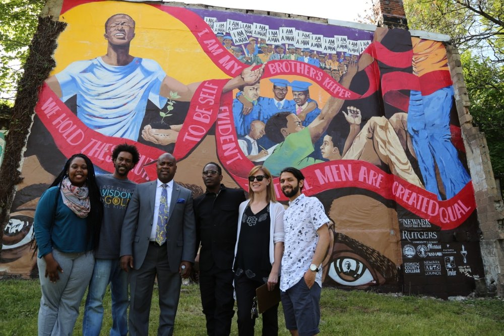 My Brother's Keeper mural in the South Ward of Newark,NJ