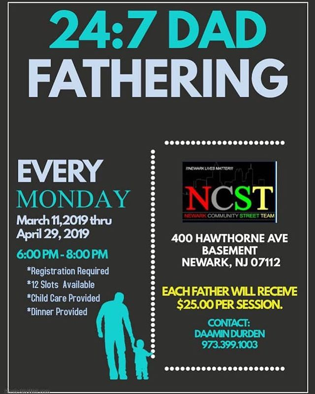 Yes you're reading right...get paid $25 per session to participate in a class on fathering every Monday from 6-8pm starting March 11!
