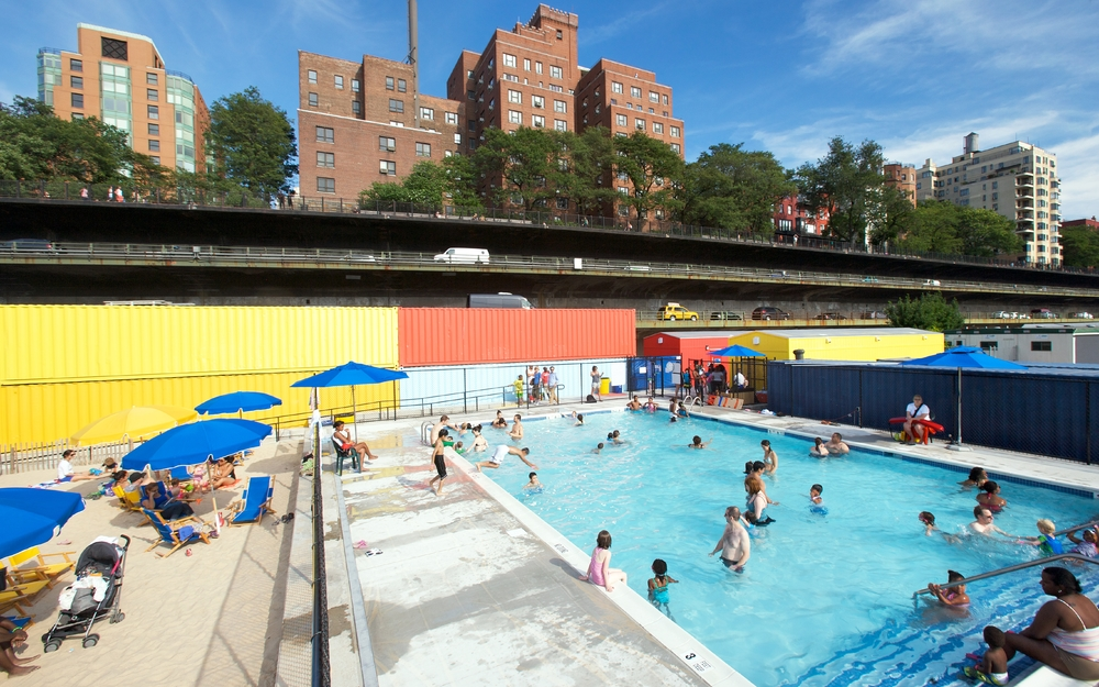 Spacesmith Brooklyn Bridge Park Pop Up Pool