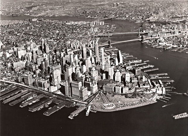 Battery Park and vicinity 1950