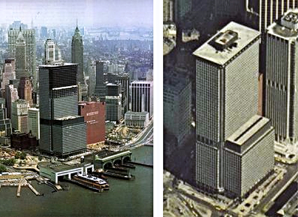 One New York Plaza under construction 1969, completed 1970