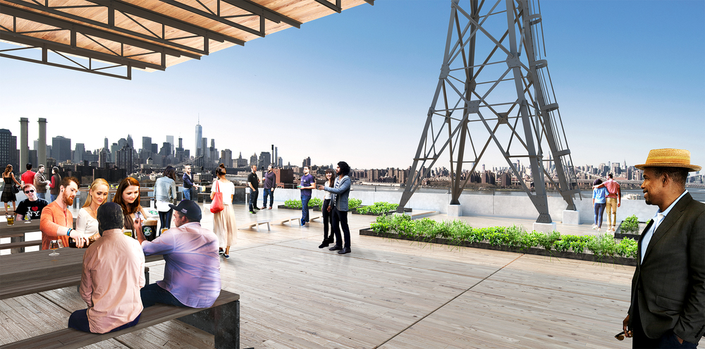 Brooklyn Brewery Rooftop,  Davis Brody Bond Rendering