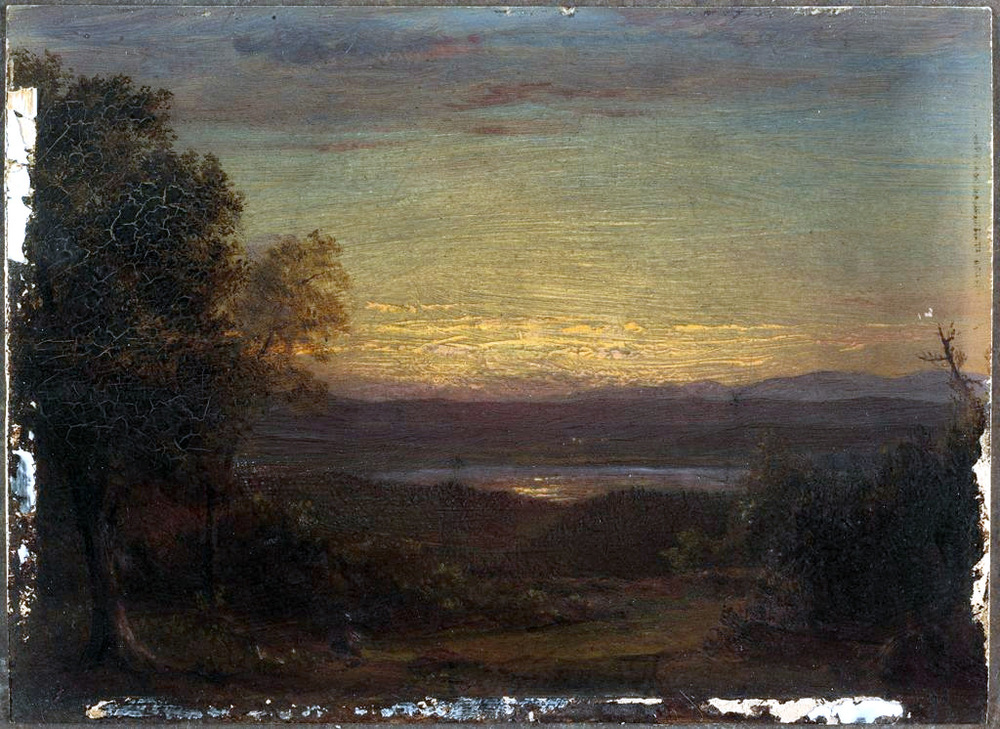 Sunset from Olana (1891)