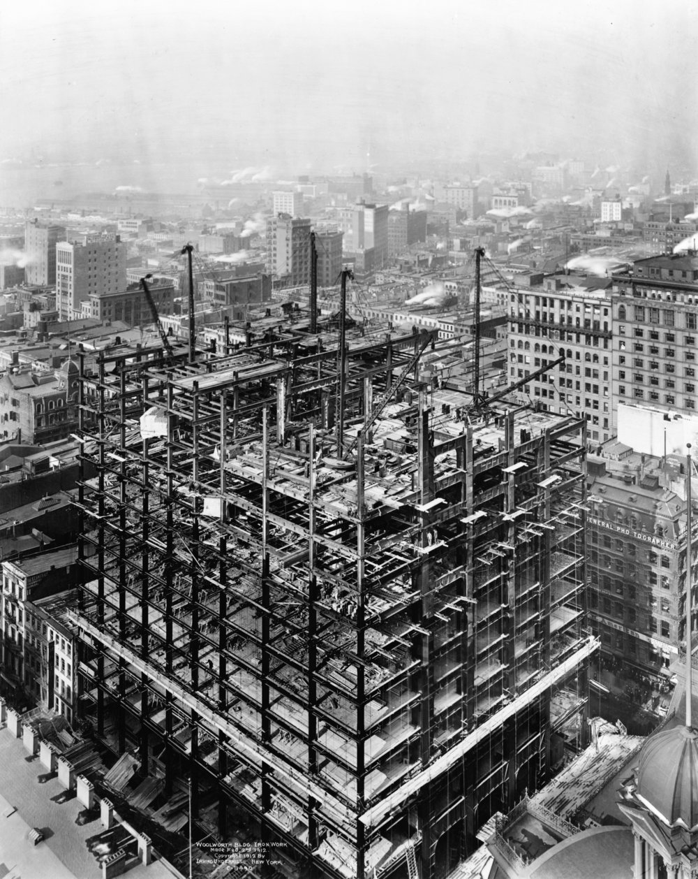 Woolworth building under construction
