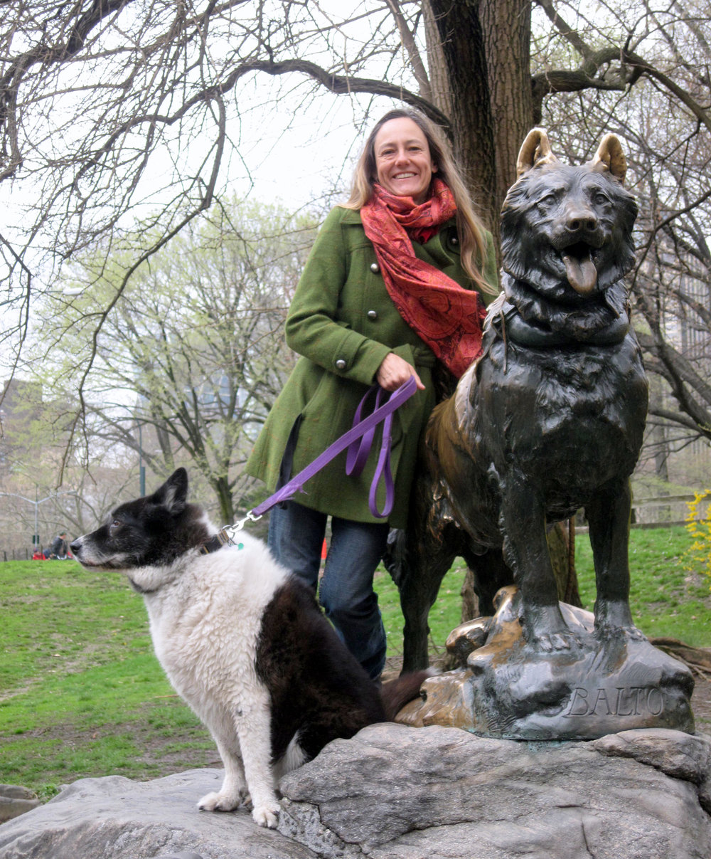 Desirée with Bingo and Balto