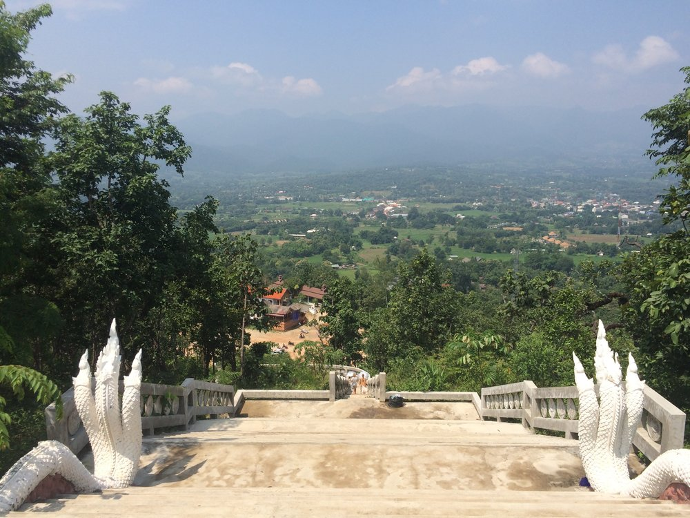 Thailand Pai, View from White Buddah