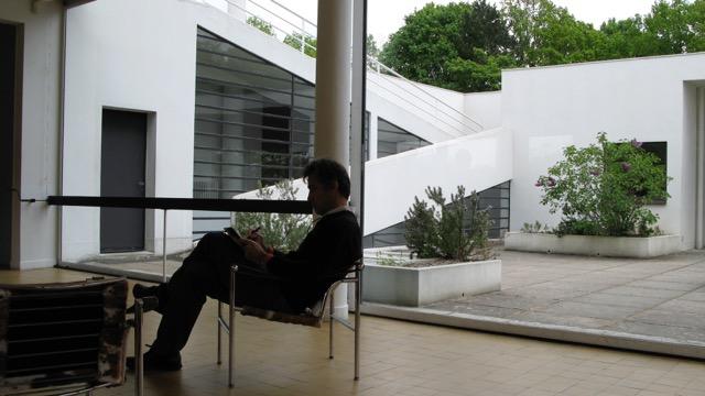 Michel sketching at the Villa