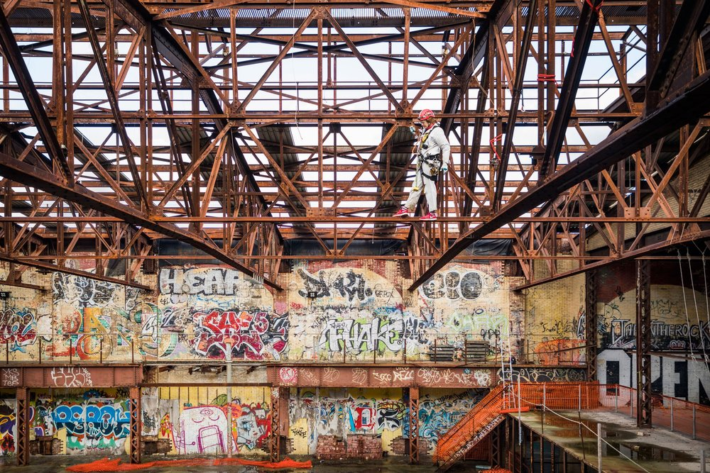 The derelict power station became a canvas for graffiti artists, who nicknamed it the Batcave.