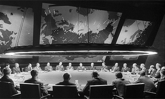 Dr. Strangelove, or How I Learned to Stop Worrying and Love the Bomb.
