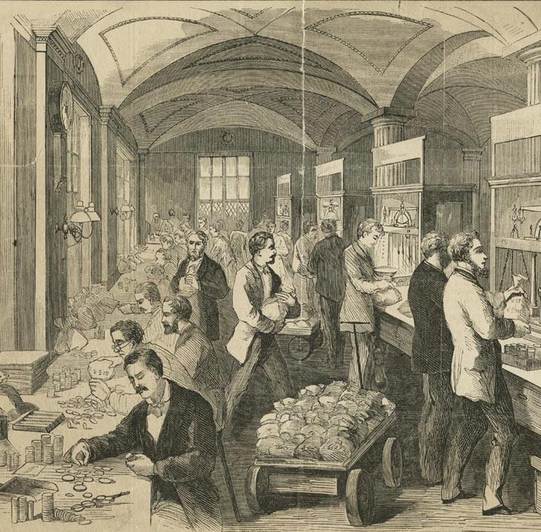 Sub Treasury Scene 1869