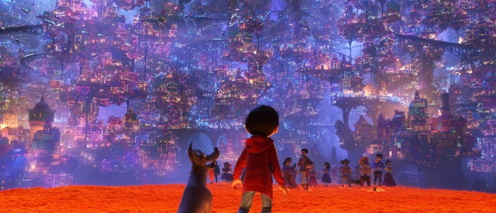 This one shot in Pixar's newest film  Coco  features 7 million lights.