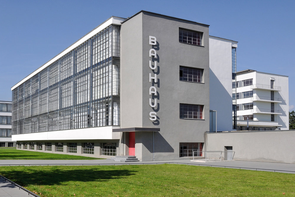 """The Bauhaus School in Dessau, built by Gropius in 1926.The Bauhaus is a German word meaning """"house of building""""or """"house construction""""."""