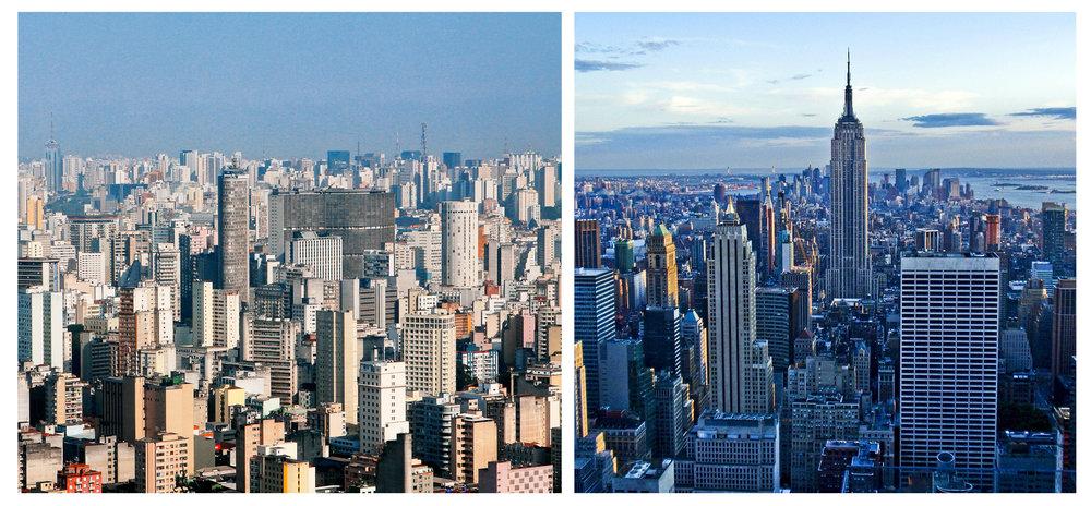 São Paulo and New York City.