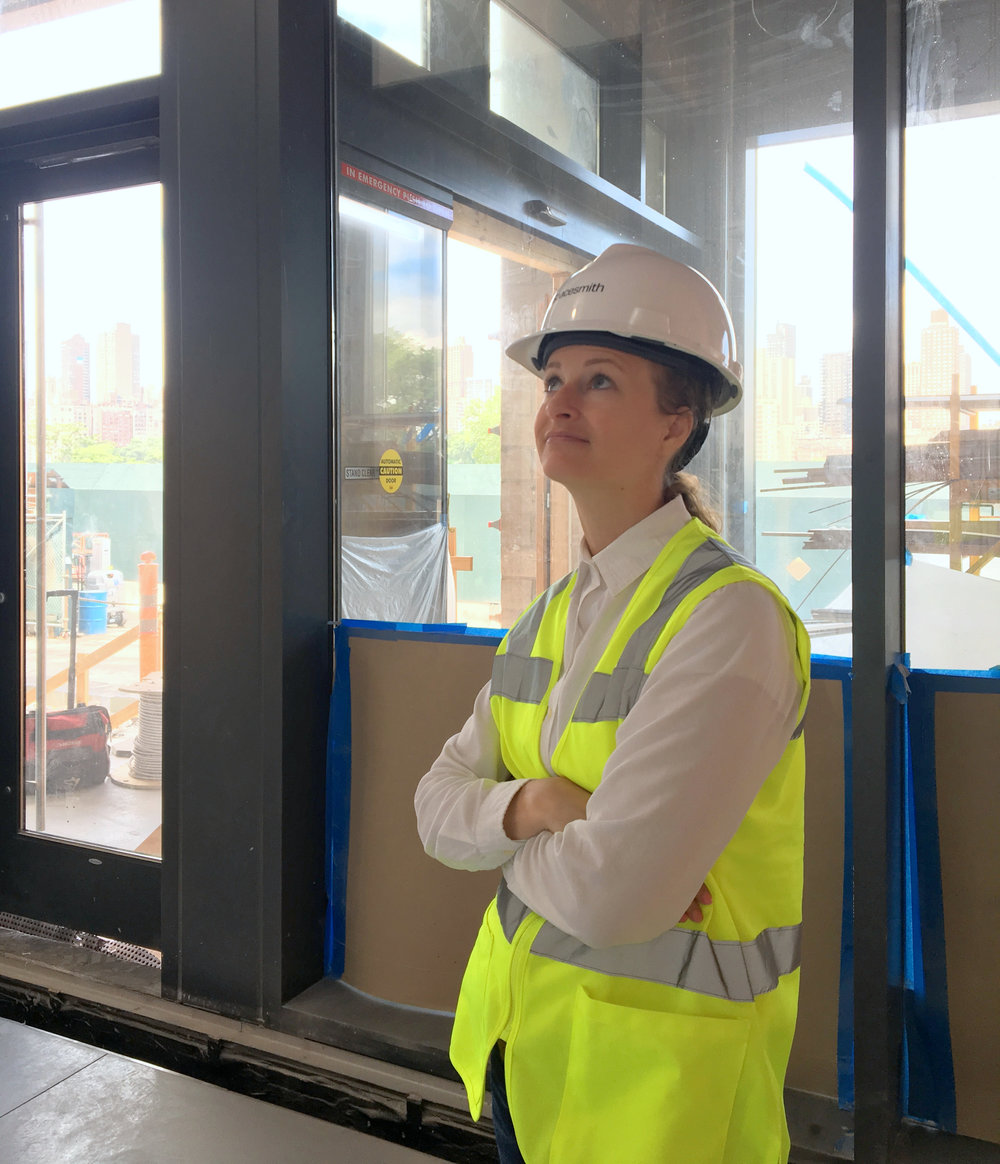 Spacesmith Associate Amy Jarvis Observing on Site