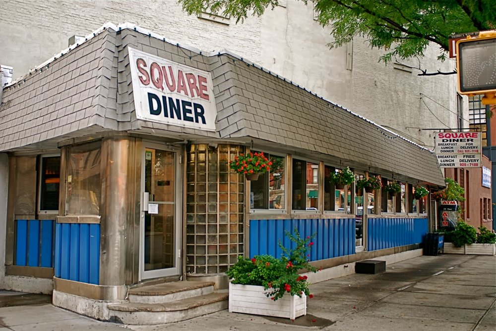 Square Diner - 33 Leonard StreetBuilt by the Kullman Dining Car Company 1940An unusual diner in that it is triangular - Still in operation today.