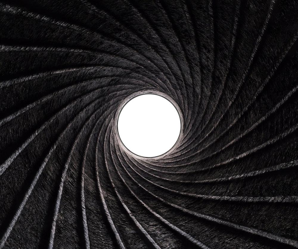 Rifling Inside of Howitzer 90mm Barrel