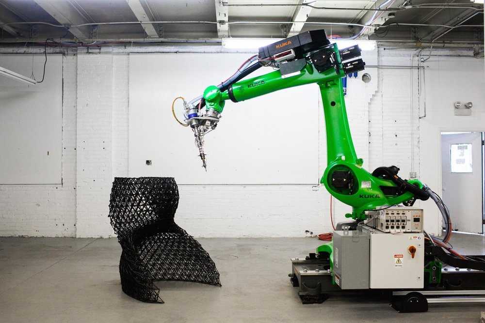 6-Axis Robotic Arm with 3D Printing Module