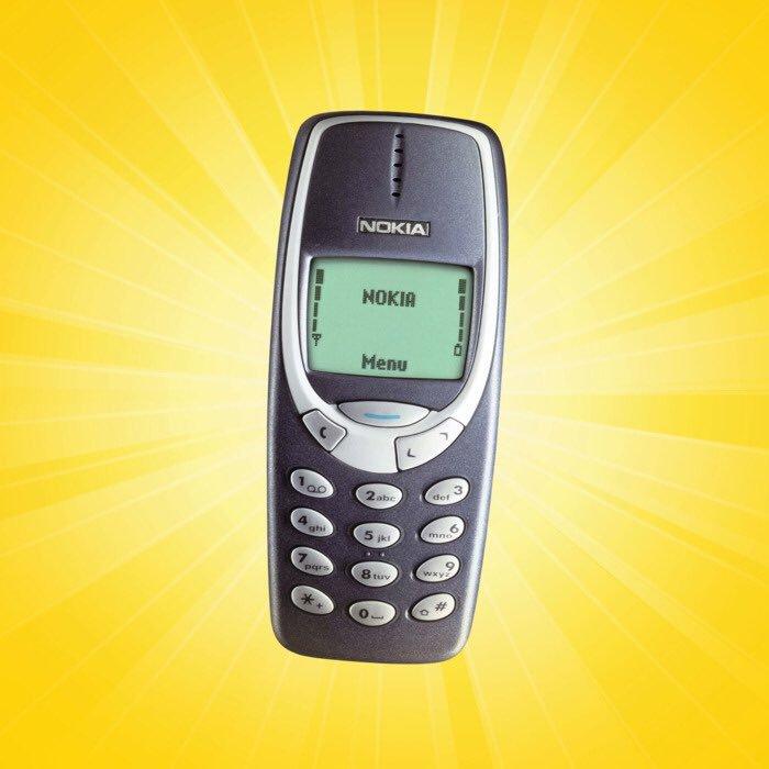 "The infamous ""brick phone"""