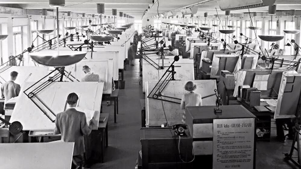 Vintage photos before autocad