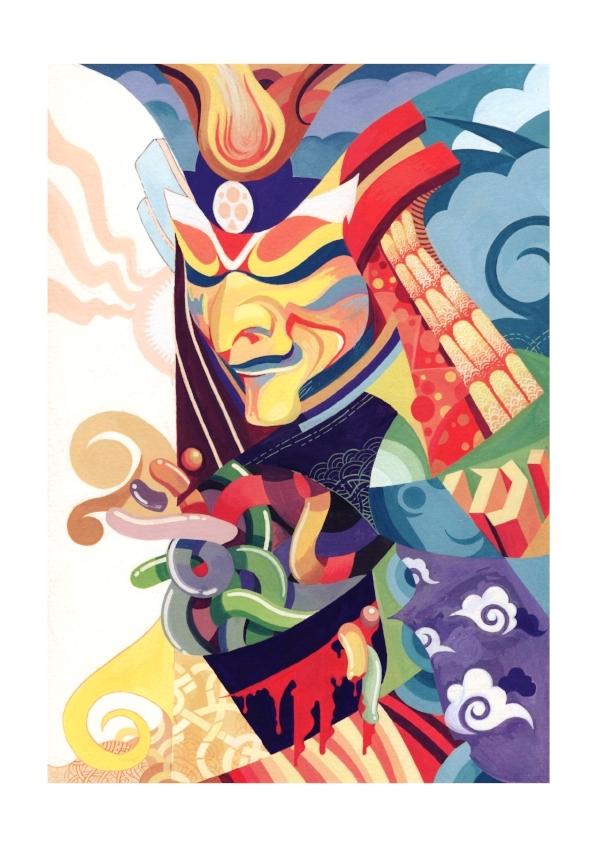 Grafitti Inspired Samurai Jelly Man