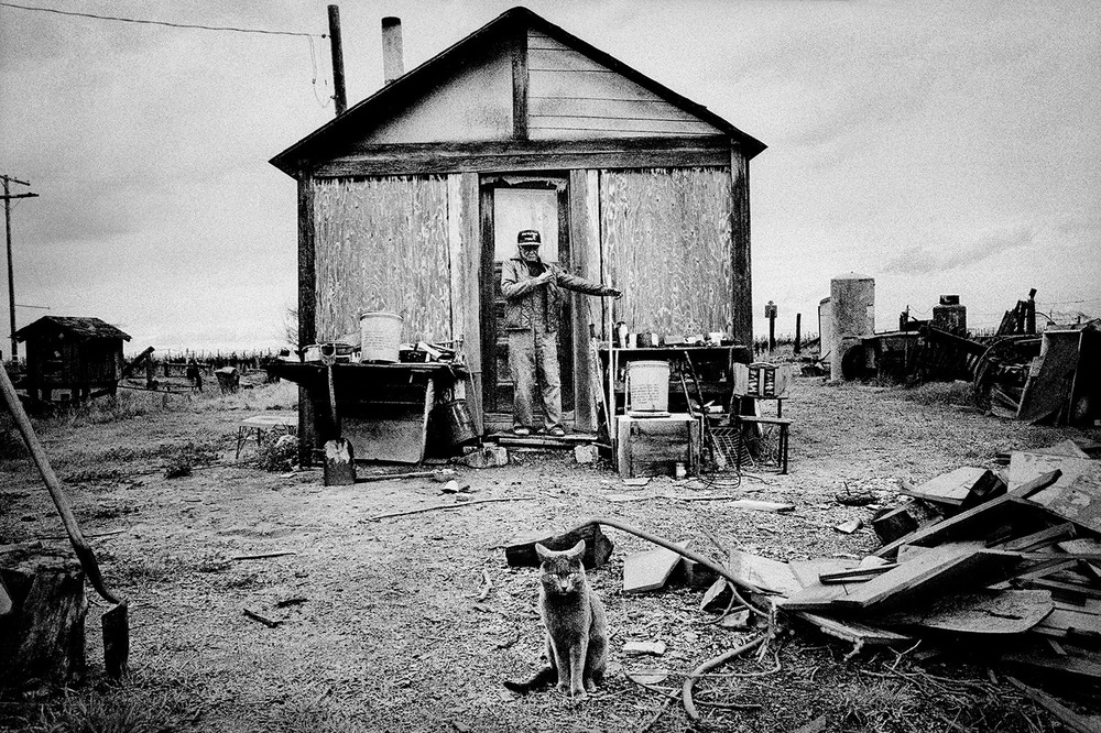 Former cotton migrant at home. Teviston, California. 2001.  Inquire about this image
