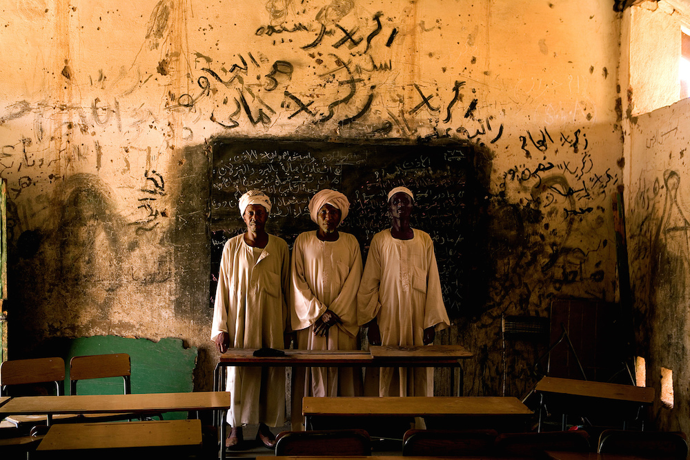 Teachers continue to educate as conflict continues in a rebel held area.   Darfur, Sudan, 2005   Inquire about this image